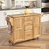 Home Styles Kitchen Center with Breakfast Bar, Natural Finish...