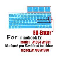 カラフルなキーボードフィルムfor Macブックプロ13タッチバーではない12スペイン語EUシリコーンキーボードプロテクターカバー皮膚保護フィルム-L-