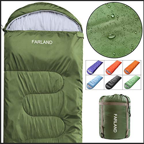 FARLAND Rectangular Sleeping Bags 20 Degree ℉,Cold Weather 4 Season for Adults, Youth, Kids, Unisex for Camping, Hiking, Waterproof, Traveling,...