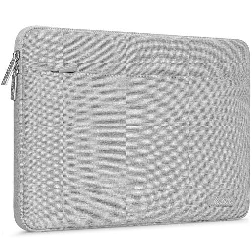 MOSISO Laptop Sleeve Bag Compatible with 13-13.3 inch MacBook Pro, MacBook Air, Notebook Computer, Durable Polyester Horizontal Protective Carrying Case Cover, Gray