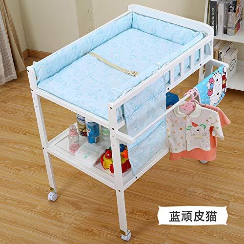 Babypflegetisch, Multifunktionaler Massivholzwindeltisch, Eltern-Kind-Touch-Tisch, Wickeltisch, Kein Leerer Ablagetisch