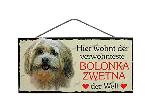 Türschild Bolonka Zwetna (8) aus Holz Schild Hund deutsche Herstellung