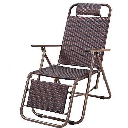 YNN Chaise Pliante inclinables Bureau Siesta Chaise Pause déjeuner Paresseux Chaise Vieille Chaise Chaise en Osier extérieur décontracté Chaise de Plage (Couleur : A)