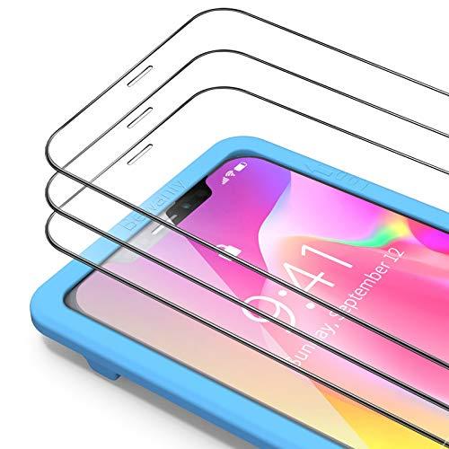 Bewahly Panzerglas Schutzfolie für iPhone XS/X/11 Pro [3 Stück], 9H Härte Panzerglasfolie 0.25mm Ultra Dünn Displayschutzfolie HD Glas Folie mit Installation Werkzeug für iPhone XS/X/10/11 Pro (5.8')