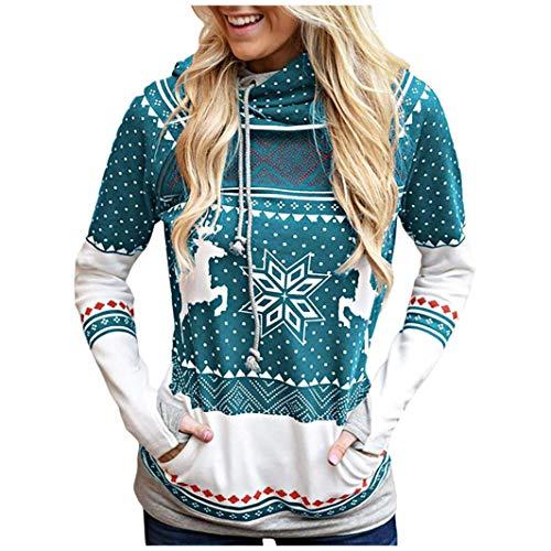 Damen Katzendruck Hoodies Sweatshirt,Schal Kragen Sweatshirt Kapuze Sweatshirt,Pullover,Bluse,Tops,mit Drucken Hoodies URIBAKY