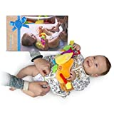 Tummbino Diaper Changing Made Easy, Distraction Baby Toy Interactive Toy Belt for Babies | Lights Up and Plays Music to Keep Your Child Occupied and Happy | Great Newborn and Infant Shower Gift Idea