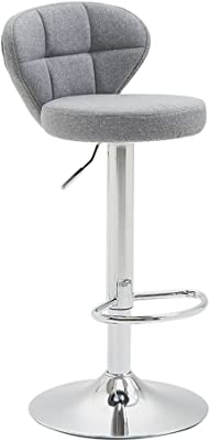 Swivel Chair Kitchen Height Bar Stool,360 Degree Rotation,10 cm Cushion,Strong