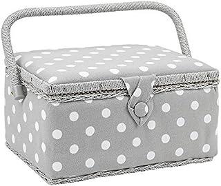 comprar comparacion Hobby Gift patrón de Puntos costurero Blanco en Gris Medio (18.5 x 26 x 15cm)