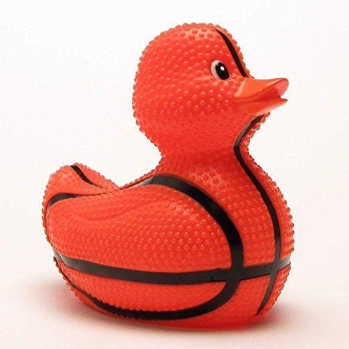 Duckshop I Badeente I Quietscheente I Rubba Duck - Slamduck - Basketball I aufrecht schwimmmend I L: 12 cm