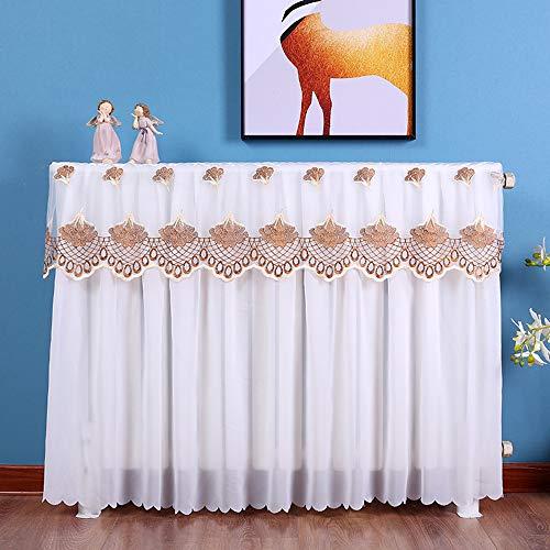 Wei & ye Cubierta del radiador, Tapa de Polvo de Tela de Lona, con decoración del hogar de Encaje, Blanco, Cubierta para el hogar Cubierta de Polvo,40cm