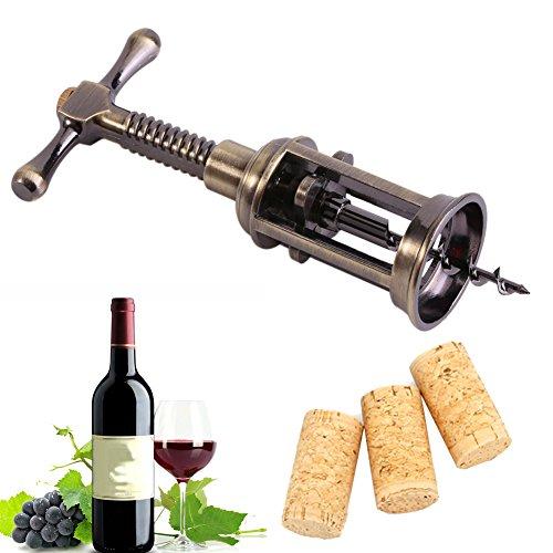 Zerodis Ouvre-Bouteilles/Tire-Bouchon de Vin Rouge Déboucher Bouteille de Bière Wine Bottle Opener Spirale en Alliage de Zinc Cuivre Placage Ouvre Outils Accessoires pour Bar Party Célébration