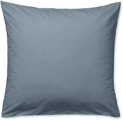 Juna, Percale Pillowcase Grey Taie d'oreiller 63 x 60 cm, Gris, Unisexe Adulte