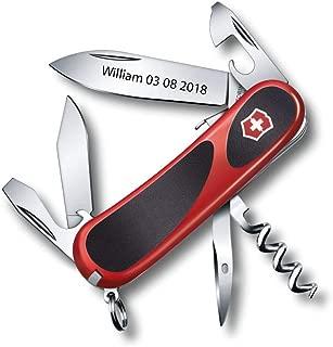 Personalized Victorinox Pocket Knife Engraved Delemont EvoGrip S101 2.3603.SC - 85 mm - 13 Tools