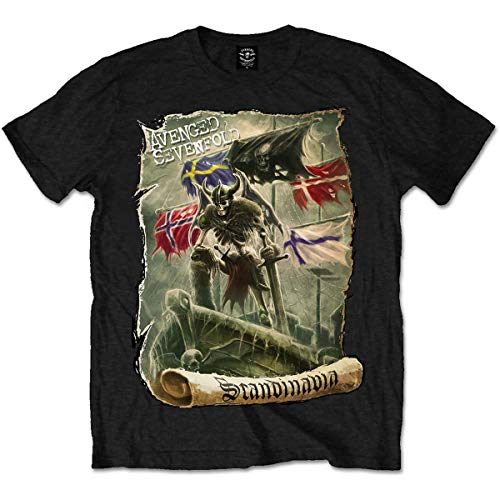 T-Shirt # XL Black Unisex # Scandinavia [Import]