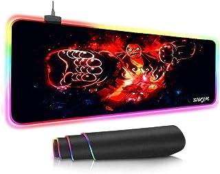 BOIPEEI Alfombrillas de ratón RGB Anime One Pie-CE Gaming Alfombrilla de ratón RGB Gran LED Fashion Glow Alfombrilla de ra...