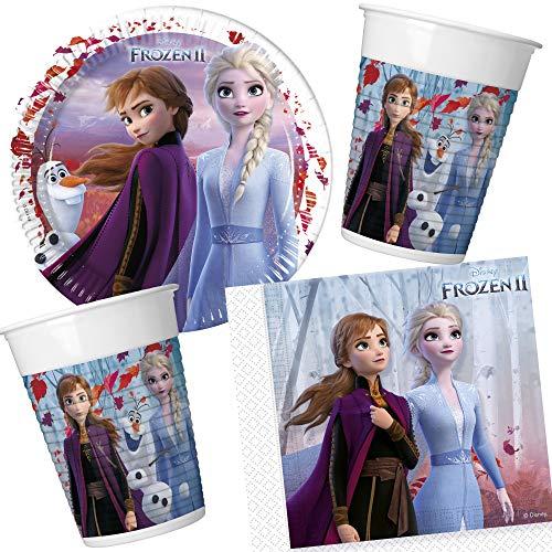 Juego de fiesta de 37 piezas, diseño de Frozen 2 con platos,...