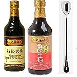 Lee Kum Kee Premium Light Soy Sauce, 16.9-Ounce + Lee Kum Kee Premium Dark Soy Sauce - 16.9 fl....
