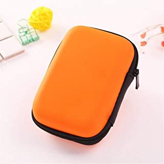 Large Capacity Pencil Case for Boys and Girls 1PC Creative New EVA Stationery Clips Storage Box Coin Headphones Notes USB Cable Desk Organizer Bag Holder for Men Women (Color : Orange)