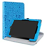 RCA 10 Viking/II Pro/Cambio W101 V2 Case,LiuShan 360 Degree Rotation Stand PU Leather with Cute Pattern Cover for 10.1' RCA 10 Viking Pro/Viking II Pro/Cambio W101 V2 Tablet,Blue