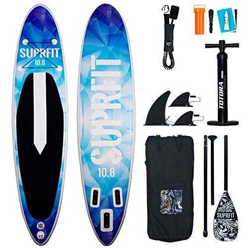 Suprfit SUP Board I Stand up Paddle Board I Komplettset: Paddelboard, Transporttasche,...