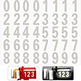 40 Pieces Reflective Mailbox Number Sticker Decal Adhesive Reflective Address Numbers Number 0-9 Waterproof...