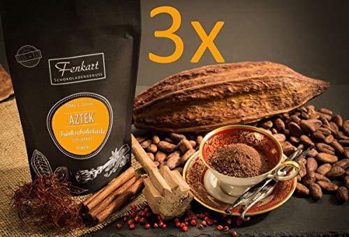 Trinkschokolade Aztek 3x Tonka & Vanille 200g | Kakao Natur aus kräftigem Edelkakao aus Panama | EdelKakaogehalt 70% | Vom Bodensee aus Vorarlberg