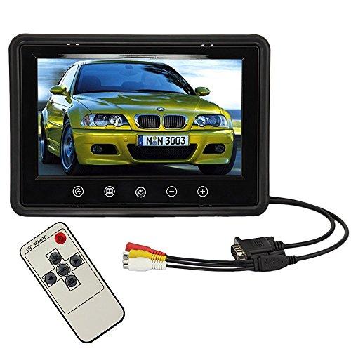 BW® 22,9 cm haute résolution 800 * 480 350 : 1 voiture avec écran TFT LCD couleur vue arrière moniteur HD Interface Ordinateur Moniteur LCD VGA/AV avec télécommande numérique de 1024 * 768 1280 * 1024 Support comme écran d'ordinateur