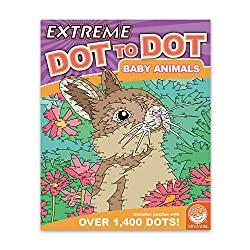 Image: MindWare Extreme Dot to Dot Coloring: Baby Animals, by MindWare | Train your brain while connecting beautiful and delightful images with up to 1,400 dots!