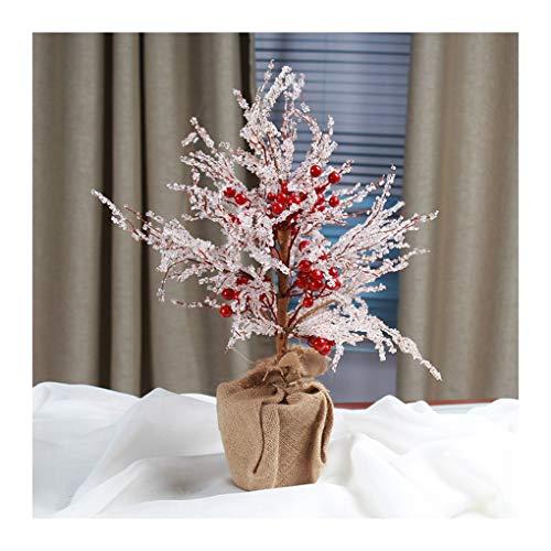 WUFANGFF Fruit Rouge Asiatique Transparent Nouveau Mini Arbre De Noël Décoration De Noël Cadeau À 50Cm,50Cm De Haut