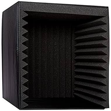 Pyle PSIB27 Sound Recording Booth Box, Studio Soundproofing Foam Shield Isolation Filter Cube