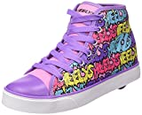 Heelys Mädchen Veloz 770681 Schuhe mit 1 Rolle, multi (Pink/Lilac/Bubble Print), 38 EU