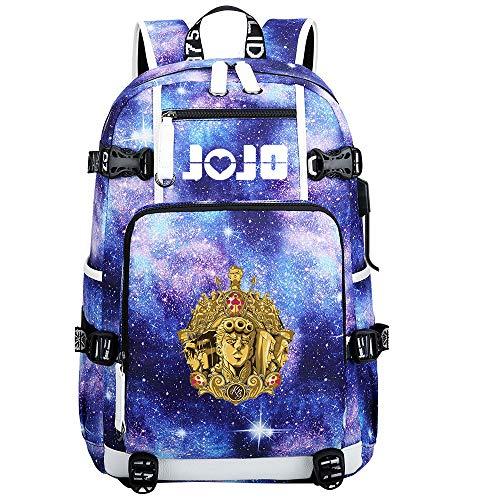 GOYING JoJo's Bizarre Adventure Jonathan Joestar/Joseph·Joestar Anime Backpacks Fashion Travel Daypack Casual Business College USB Unisex-E