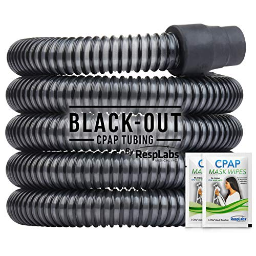 RespLabs CPAP Hose, Black-Out Tubing — The Original Universal 10 ft. Tube | Compatible with Respironics and ResMed Devices