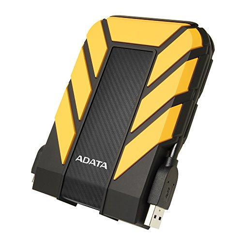 ADATA HD710 Pro - 1 TB, externe Festplatte mit USB 3.2 Gen.1, IP68-Schutzklasse, gelb,langlebig, wasserdicht und staubdicht mit militärischer Zähigkeit in mehrschichtigen Festplatten