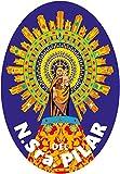 Artimagen Pegatina Oval Virgen del Pilar 60x80 mm