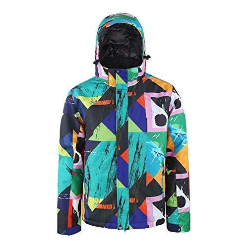 Skianzug Herren Doppel Snowboard-Jacke der Art und Weise im Freien windundurchlässige Wasserdichten Ski-Mantel Ski-Jacke for Männer Anzug (Farbe : Grün, Size : L)
