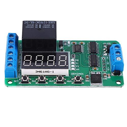 Ivaank Módulo de relé, módulo de Interruptor de Control de Tiempo de relé de Placa de Temporizador de retardo DPDT Multifuncional de Doble Canal 12V