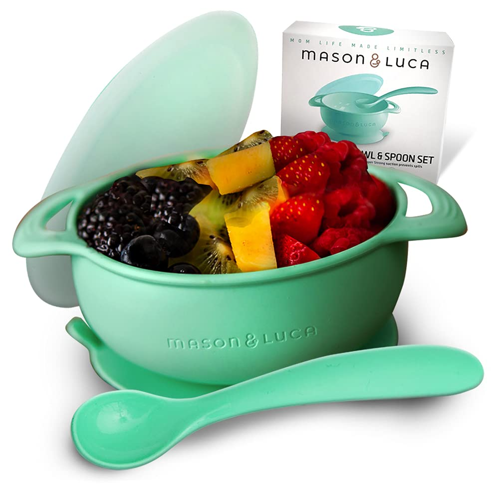 Mason Luca Silicone Baby Bowl with Set Some reservation and Lid Spoon Perfe low-pricing