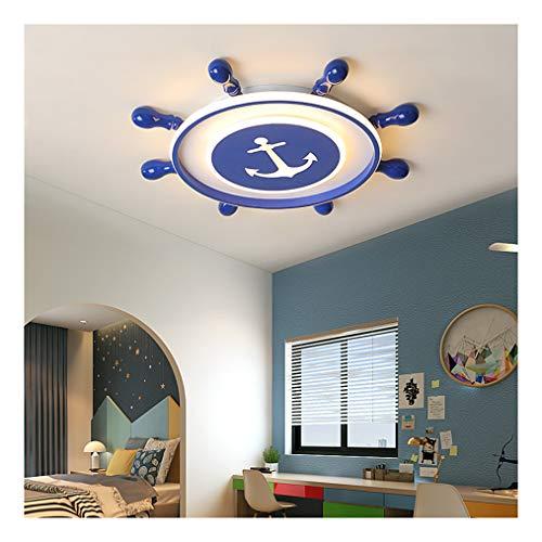38W Plafón LED Techo Infantil Lámpara de Techo con Mando a Distancia Regulable 3000-6000K Interior Creativos Timón de barco luz techo para Dormitorio sala estar Habitación Infantil Juvenil Decoración