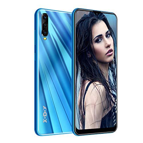 XGODY A90 Smartphones ohne Vertrag,6.53 Zoll Großer Touchscreen Günstig Smartphones Angebote,2GB RAM 16GB ROM Smartphones Dual SIM Android 9 Handy-Blau