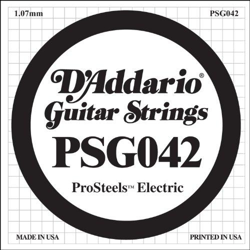 D'Addario PSG042 ProSteels, cuerda individual para guitarra eléctrica.042