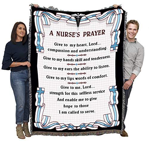 Nurse prayer cotton-woven blanket