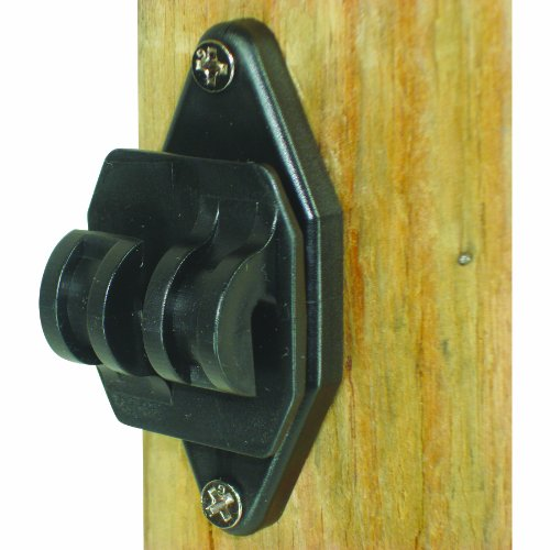 Field Guardian 100-Pack Wood Post Nail on Insulator for Hi-Tensile, Black