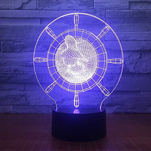Timbre De Luz De Noche Acrílico 3D Luz De Noche Led