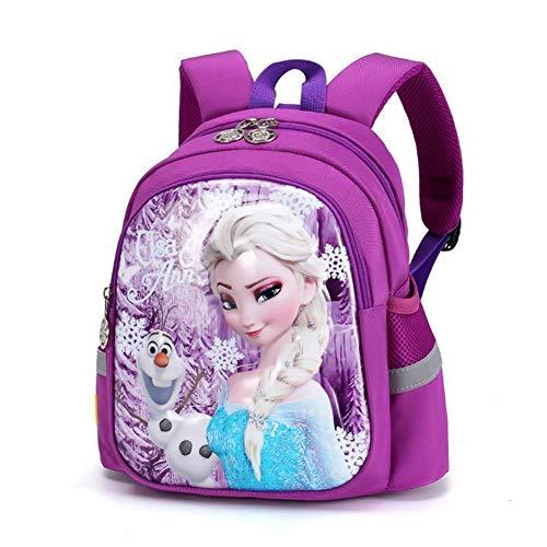 UNILIFE Kinderrucksack mit Zügeln Mädchen Frozen ELSA Princess Rucksack 3D animierte Schultaschen für Mädchen Kindergarten Vorschule