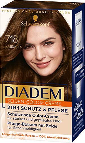 Diadem Seiden-Color-Creme 718 Haselnuss Stufe 3, 3er Pack(3 x 170 ml)