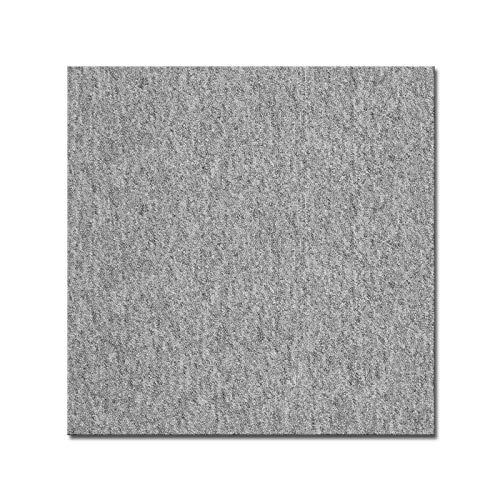 casa pura Teppichfliesen Vienna selbstliegend | hochwertiger Bitumen Rücken | strapazierfähiger Bodenbelag für Büro und Gewerbe | je 50x50 cm (hellgrau - 4 Stück = 1qm)