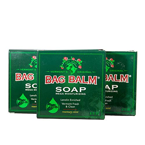 Vermont#039s Original Bag Balm Mega Moisturizing Soap 3 Pack