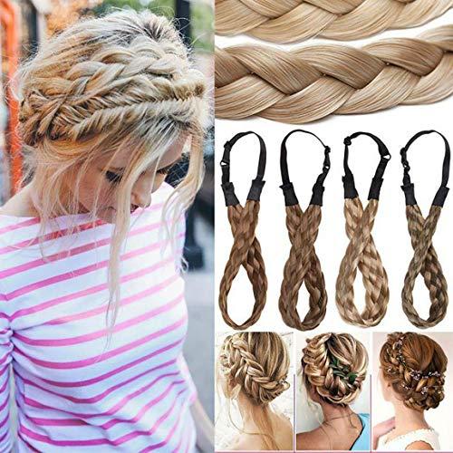 """Extensión Natural del cabello Diadema trenzada Trenza para el cabello Cabello Trenzado grueso Accesorio para el pelo Traje para mujeres Niñas 0.6"""" - Castaño claro"""