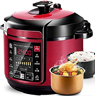 SHAAO Electric Pressure Cooker Pot Microcomputer Double Bile 5L Smart Home High Pressure Pot Rice Cooker Slow Cooker